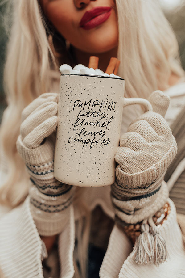 Pumpkins, Lattes and Flannel Ceramic Mug