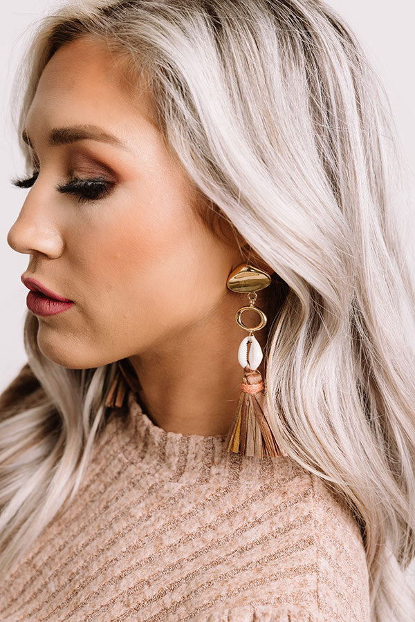 Kingston Tassel Earrings in Mocha