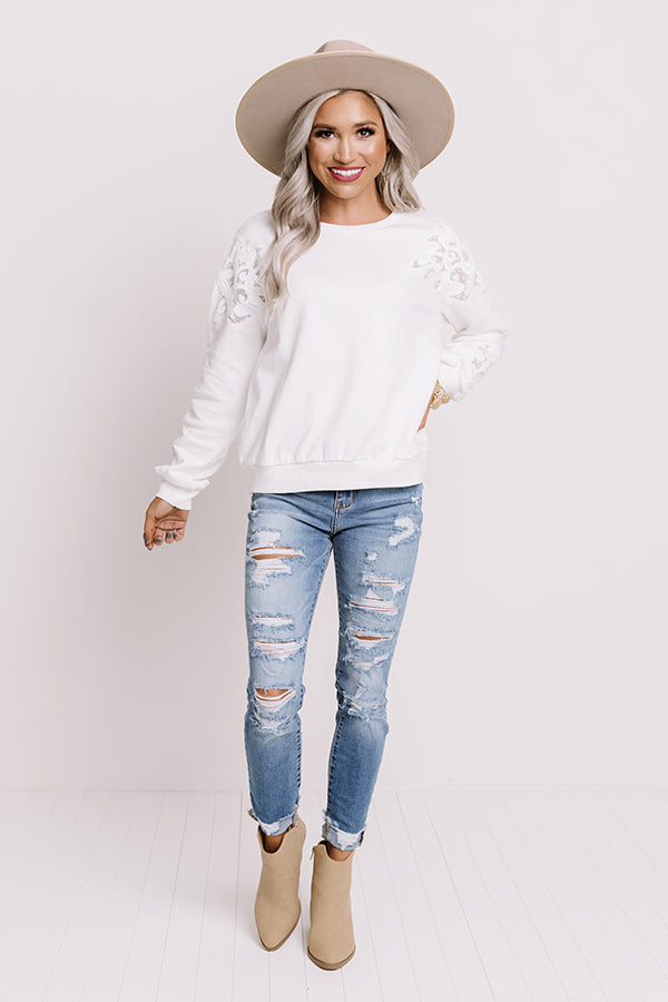 Holding Out Hope Embroidered Sweatshirt