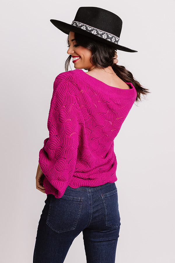 September Morning Knit Sweater In Orchid