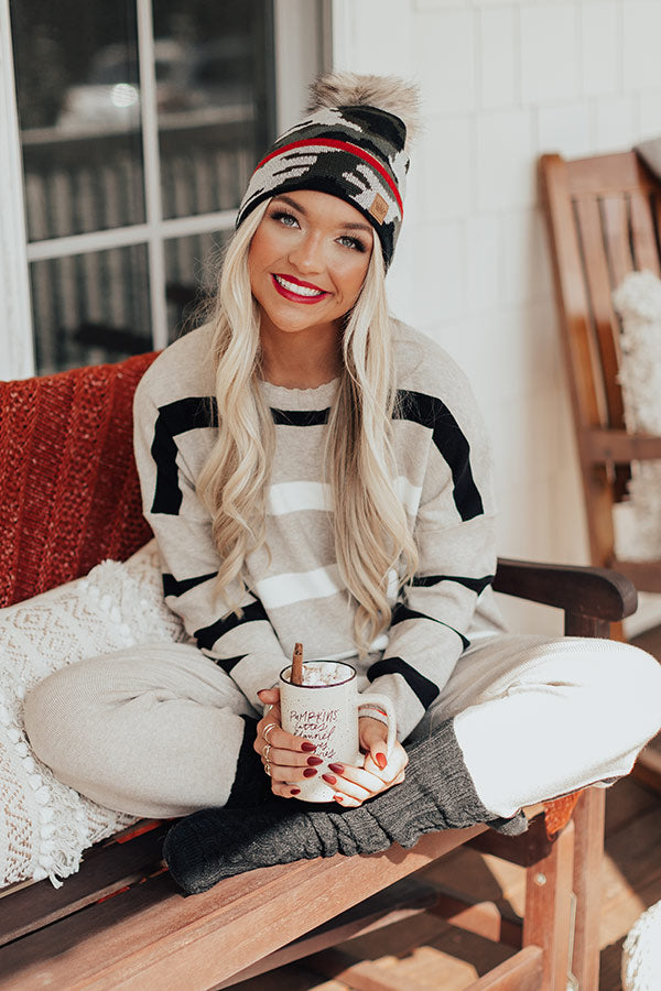 Better By The Fire Stripe Sweater