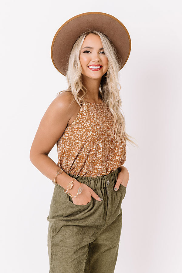 Counting On Cool Weather Shift Tank In Camel