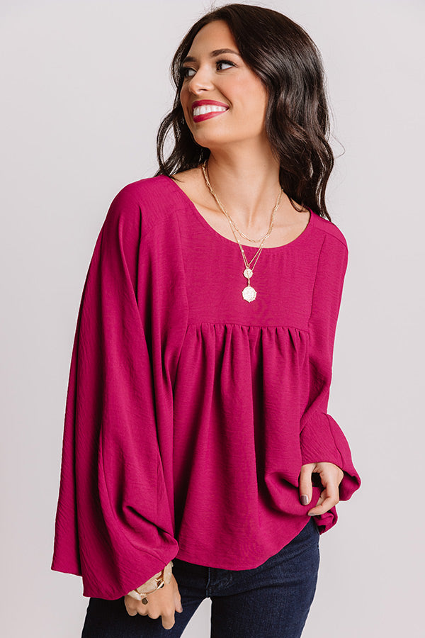 Better In The Berkshires Shift Top In Berry