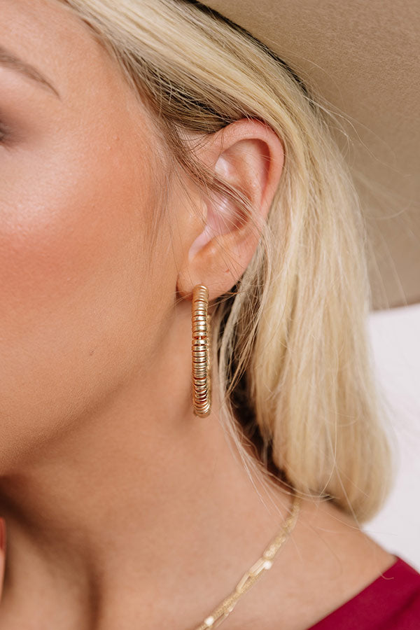Moving On Up Hoop Earrings In Gold
