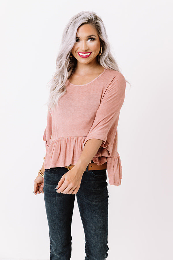 Campus Stroll Shift Top In Blush