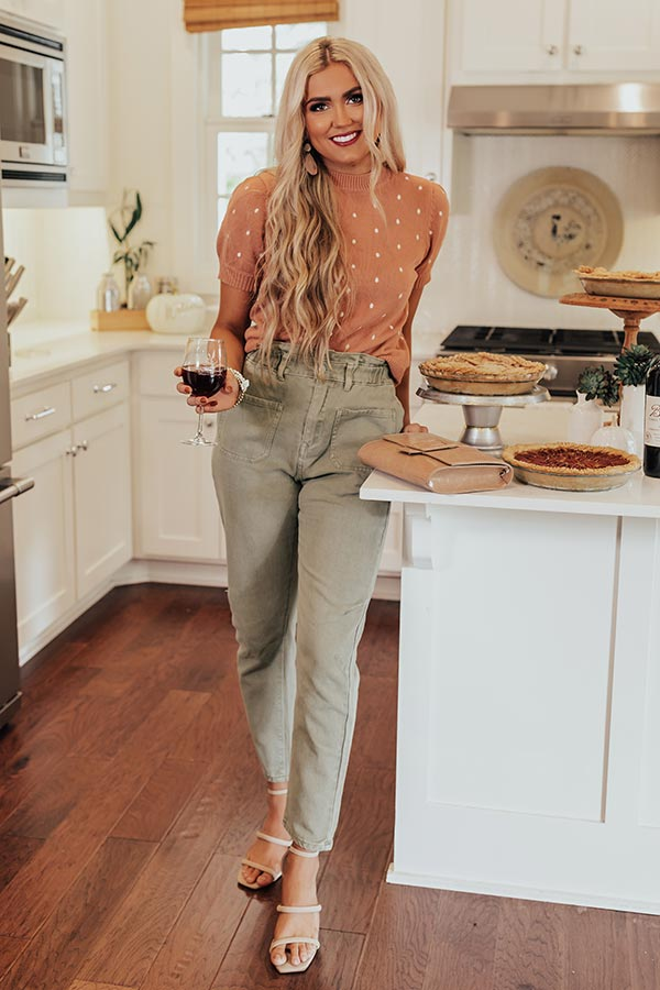 The Levy High Waist Pants In Sage