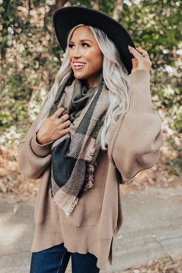 Wrapped In Cozy Blanket Scarf