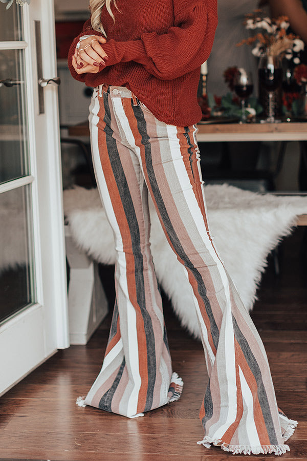 The Praline High Waist Stripe Flare