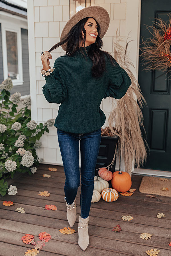 Berkshires Bound Knit Sweater In Hunter Green