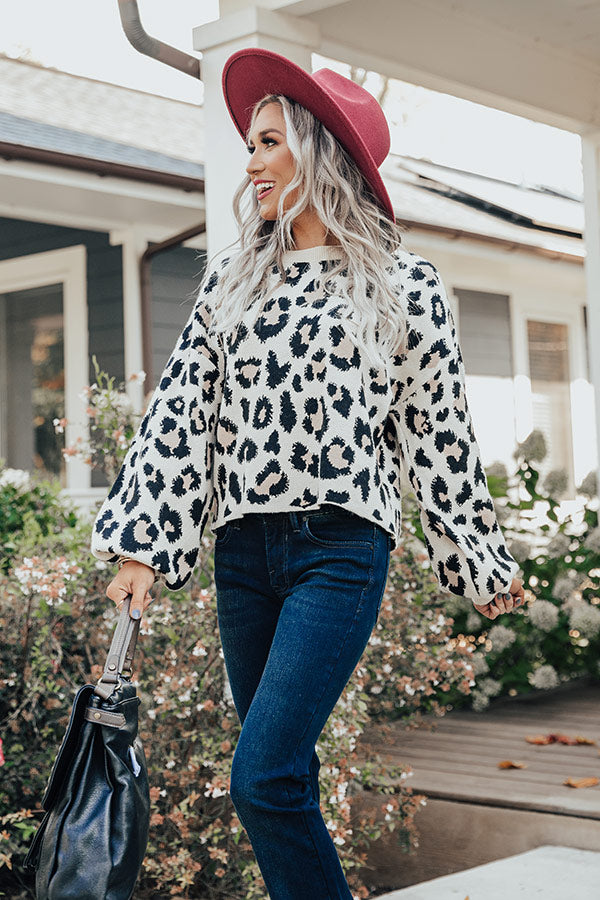 Bundled Up In Brighton Leopard Sweater