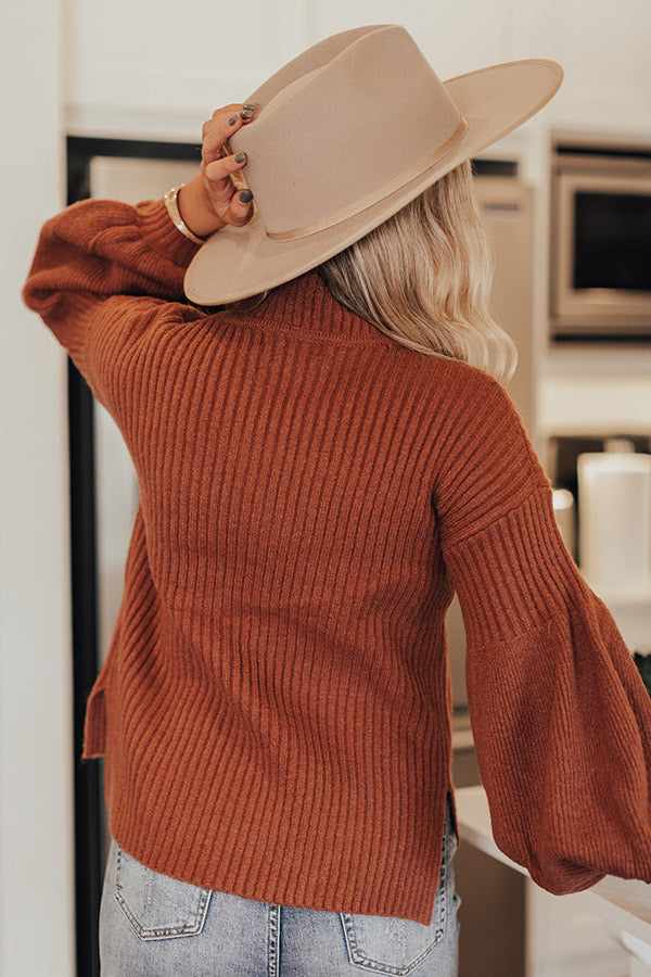 Pumpkin Season Sweater In Rustic Rose