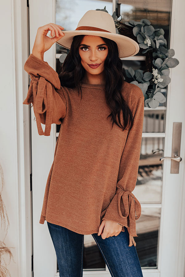 Winter Weather Shift Top In Camel
