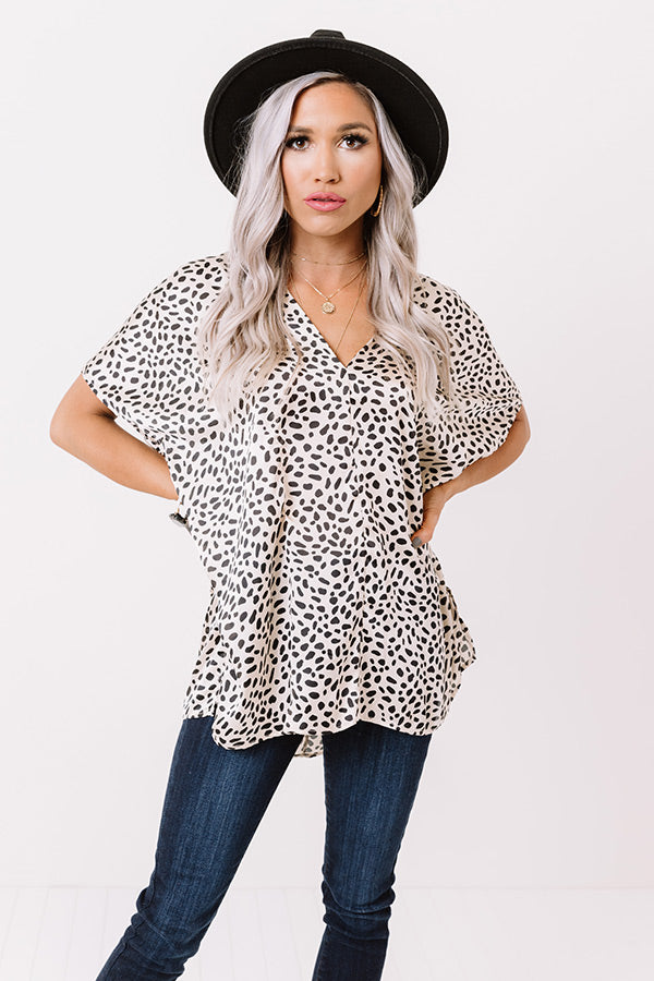 Ready, Set, Obsessed Cheetah Print Shift Top