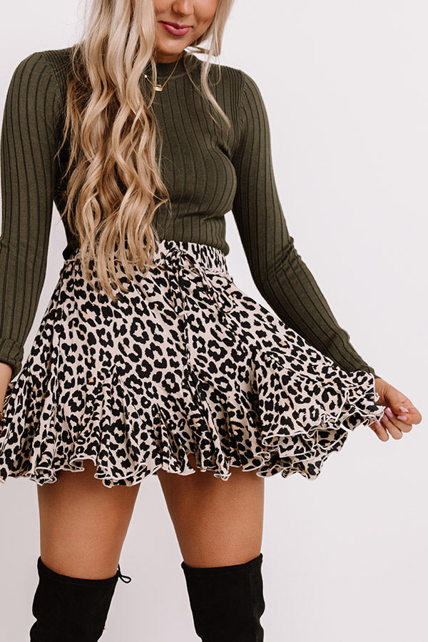 Nothing But Kisses Leopard Skirt