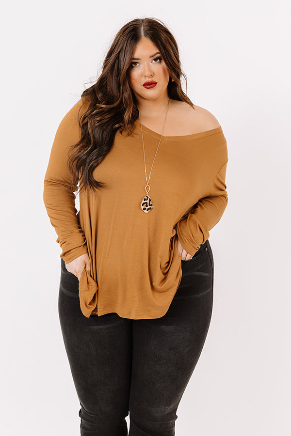 Sweet Mood Shift Top In Copper