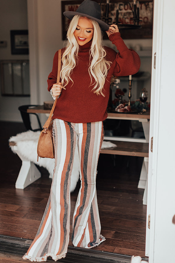 Berkshires Bound Knit Sweater In Dark Rust