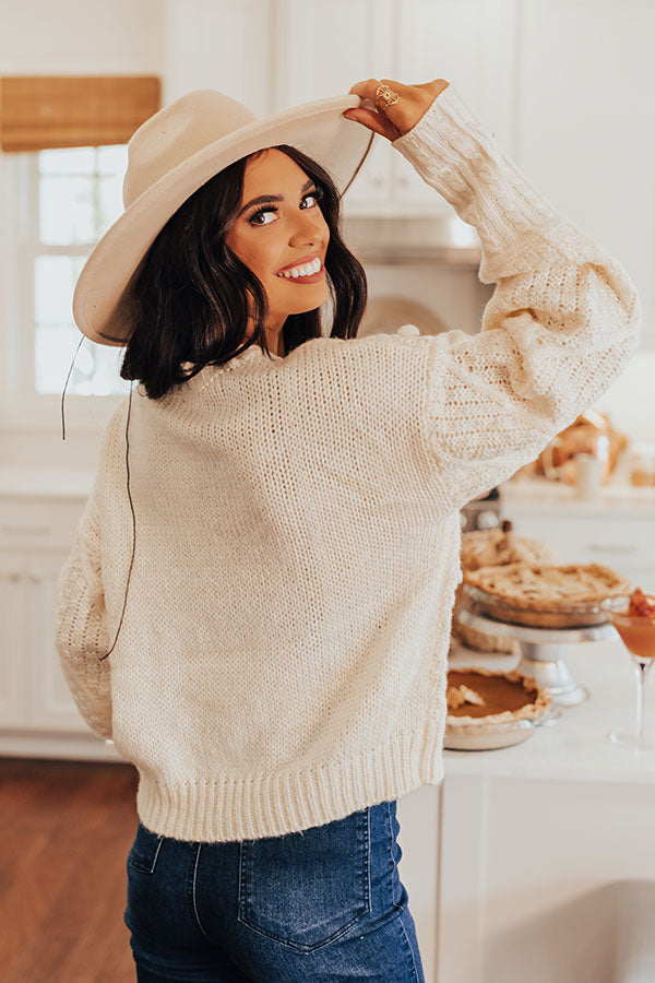 Most Loved Knit Sweater In Cream