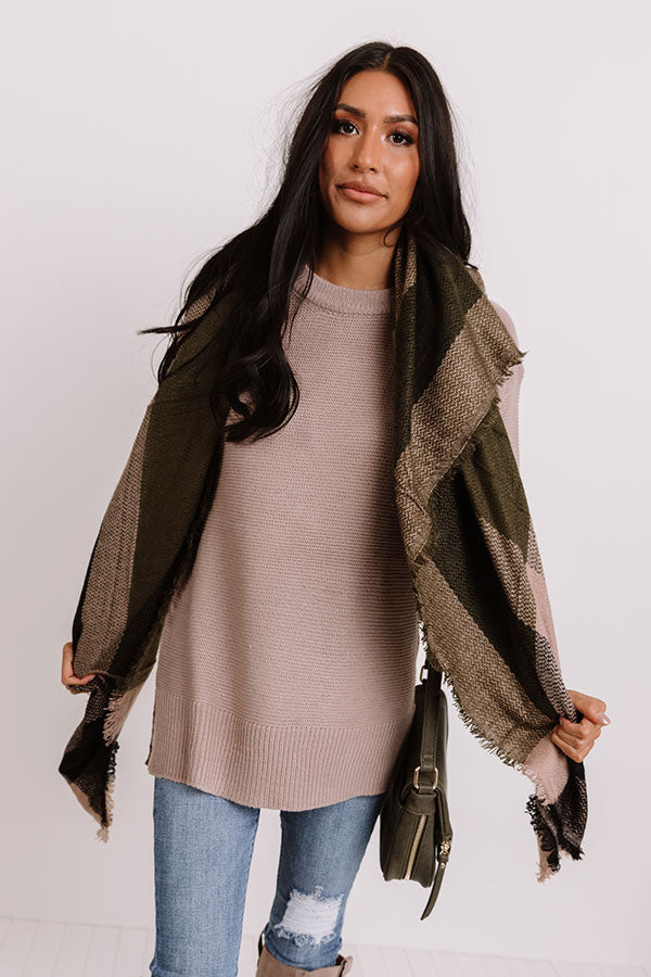Mountain Resort Knit Sweater In Taupe