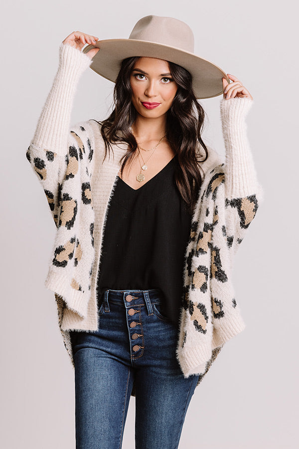 Most Valuable Layer Leopard Cardigan In Cream