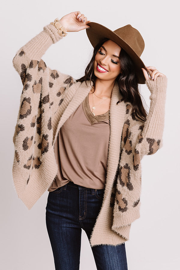 Most Valuable Layer Leopard Cardigan In Mocha