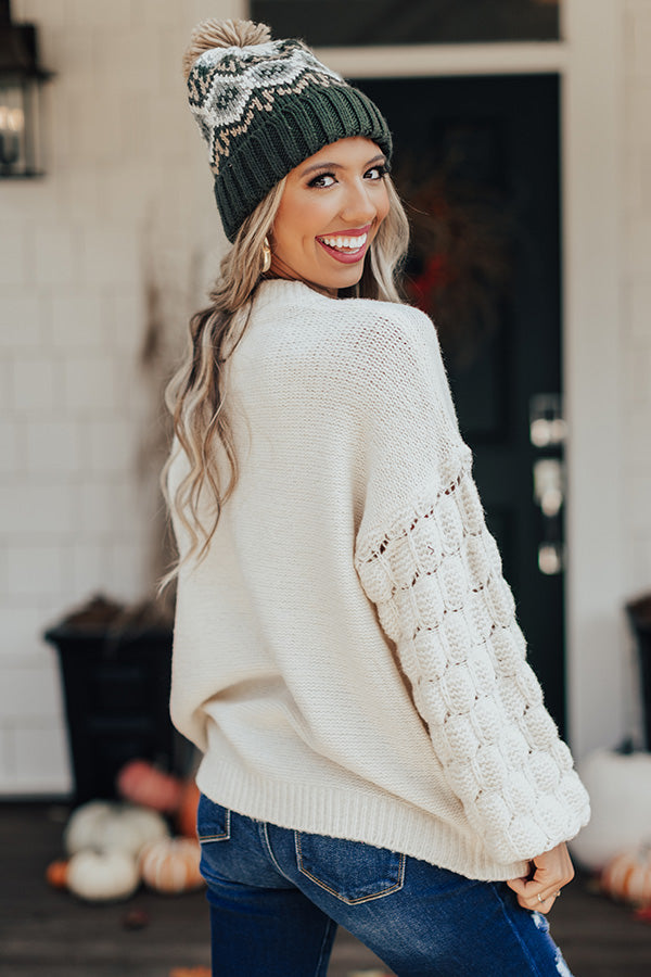 Blue Ridge Babe Knit Sweater In Ivory