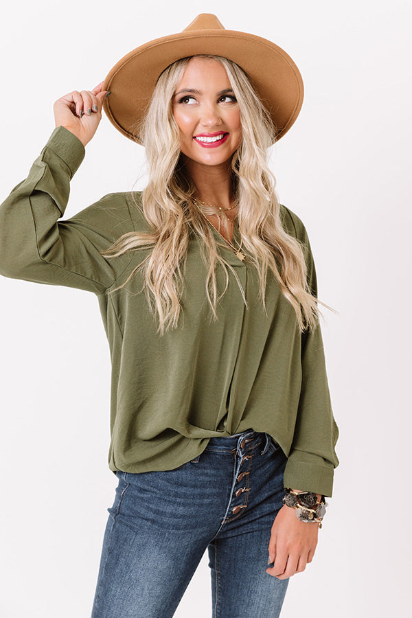 Selfless Love Shift Top In Olive