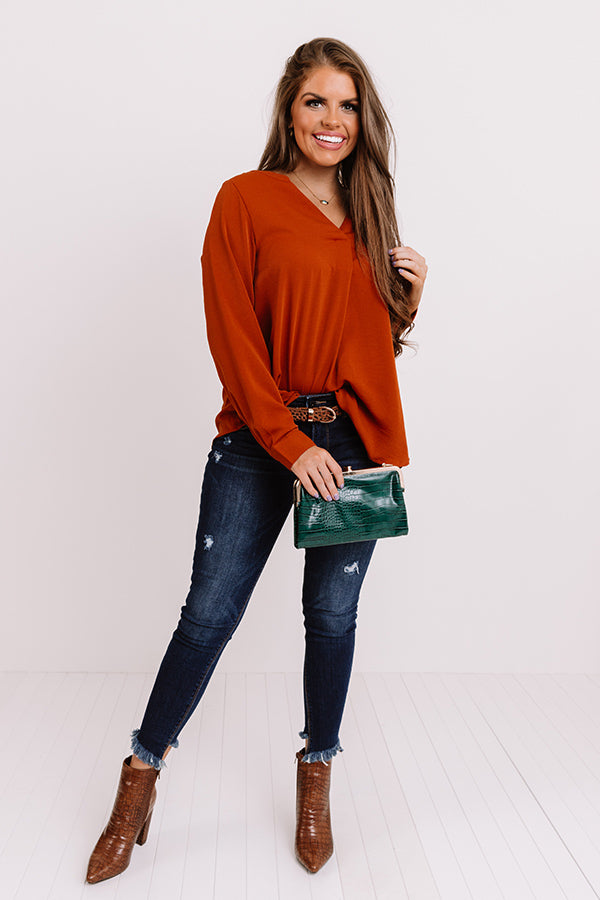 Selfless Love Shift Top In Pumpkin