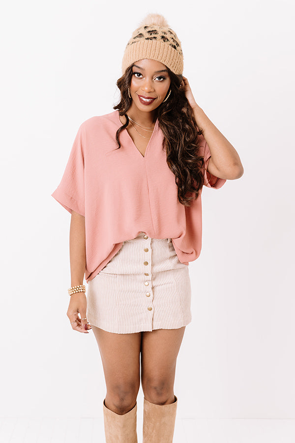 Versailles Celebration Shift Top In Pink