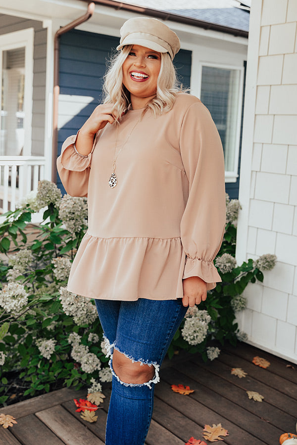 Style Diary Shift Top In Iced Latte