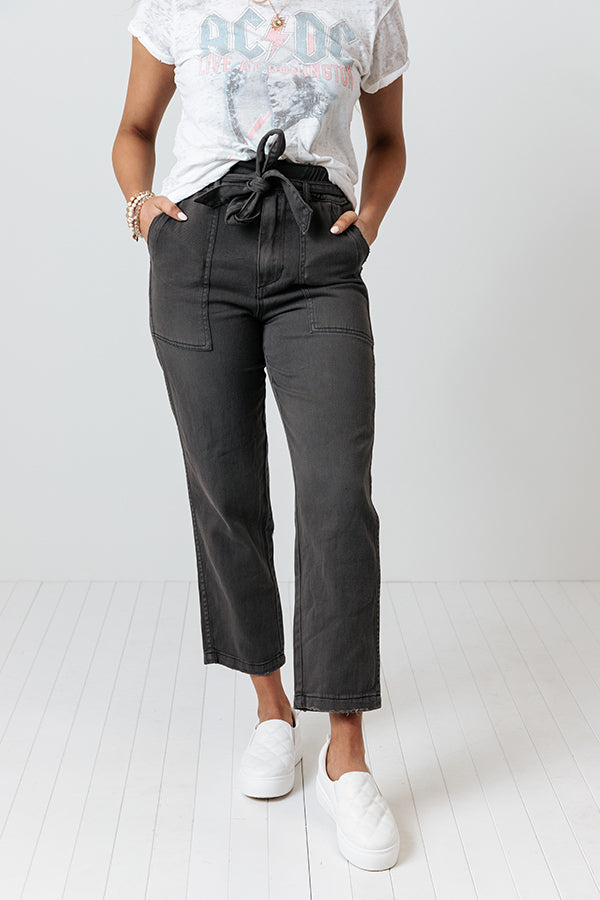 The Joanie High Waist Pant In Charcoal