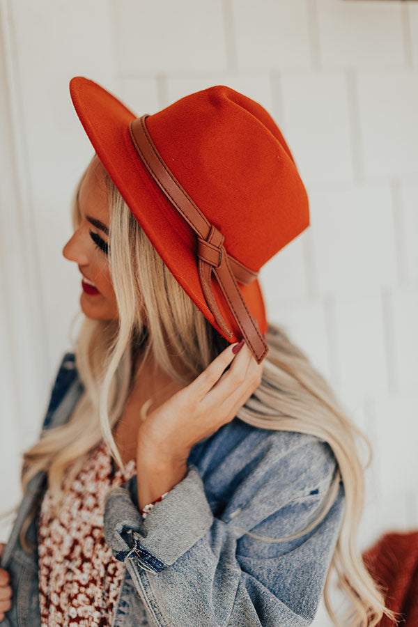 Shades Of Fall Fedora in Rust