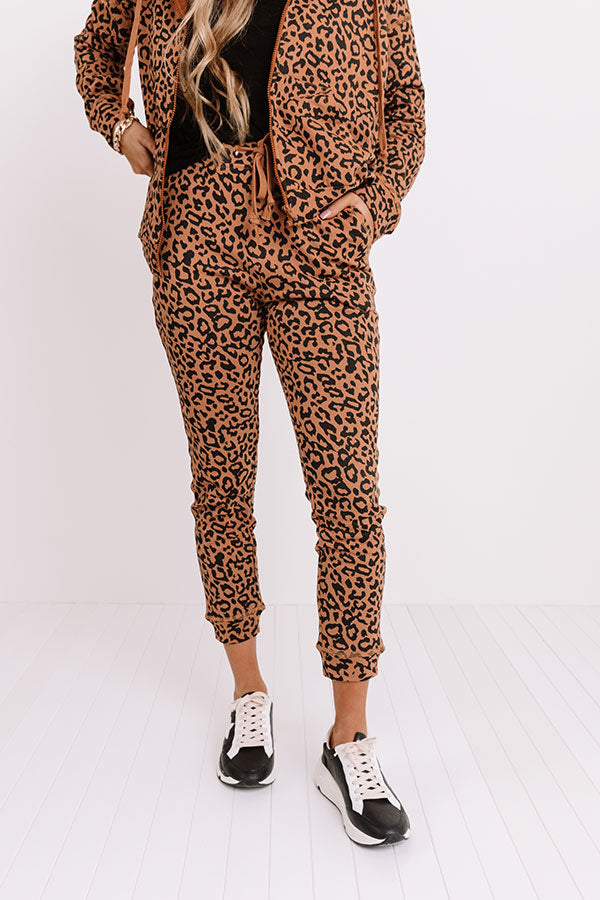 Perfectly Cozy Leopard Joggers
