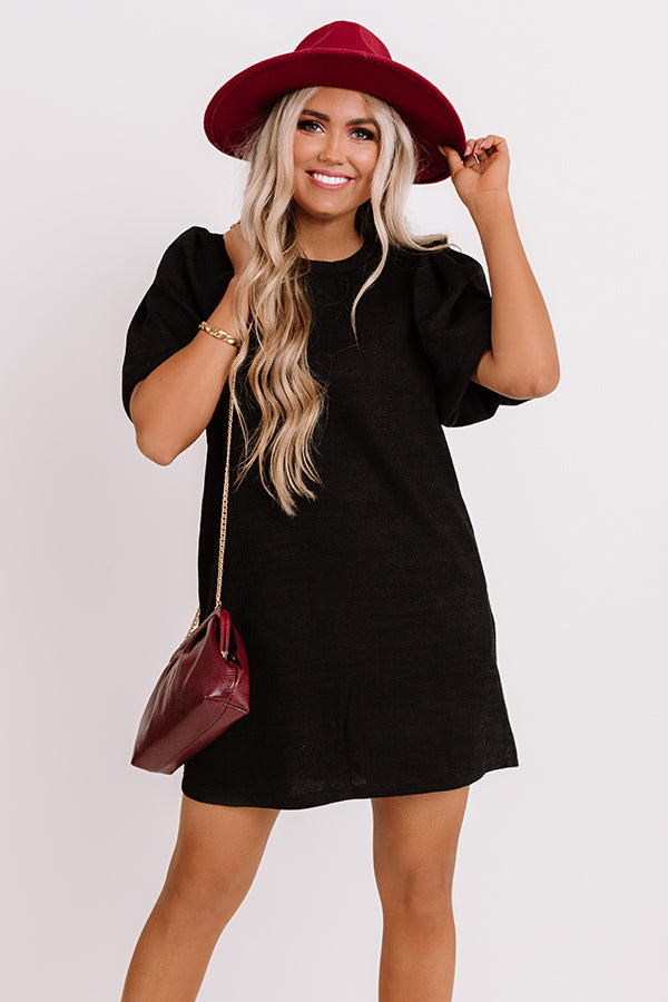 Highway To Happy Shift Dress In Black