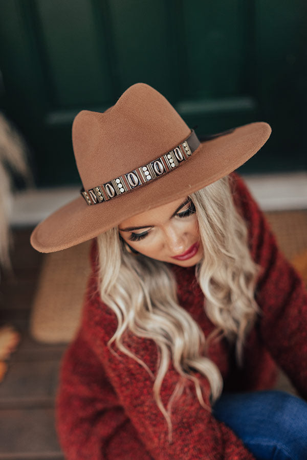 Soho Swooning Fedora Hat In Brown