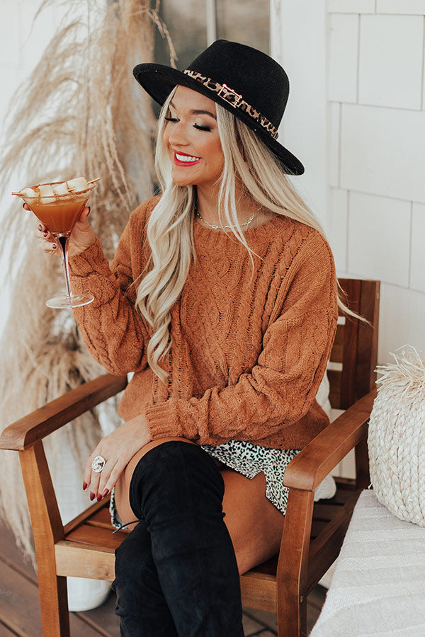 PSL Pick Me Up Sweater In Camel