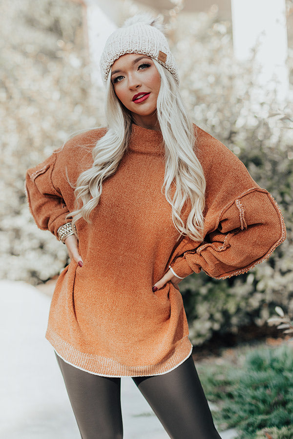 Haute Tea Chenille Sweater In Pumpkin