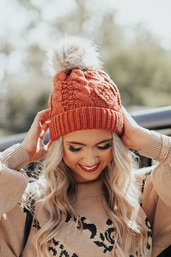 Luxe Lounging Cable Knit Beanie