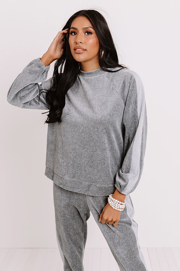 Cozy Queen Velour Sweatshirt