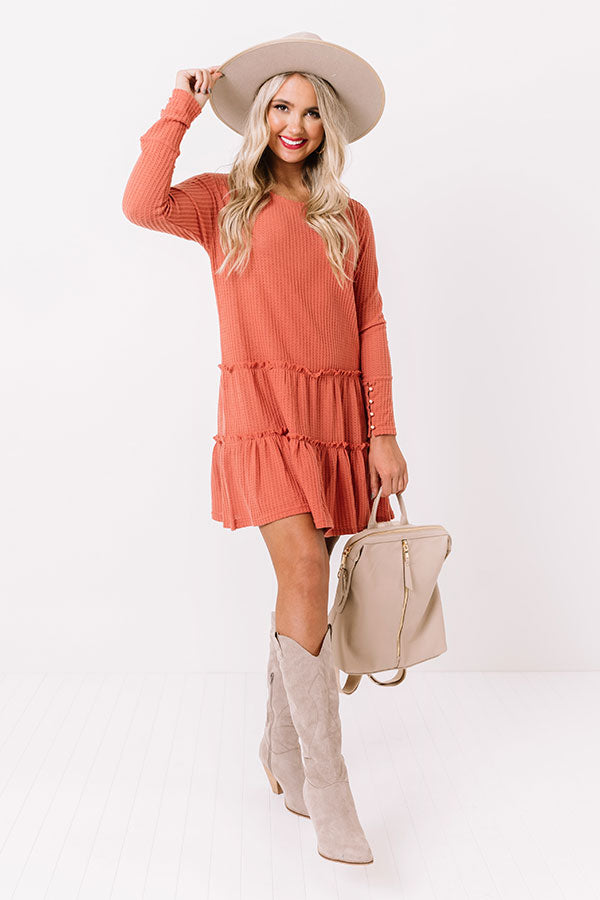 Still Charming Waffle Knit Dress