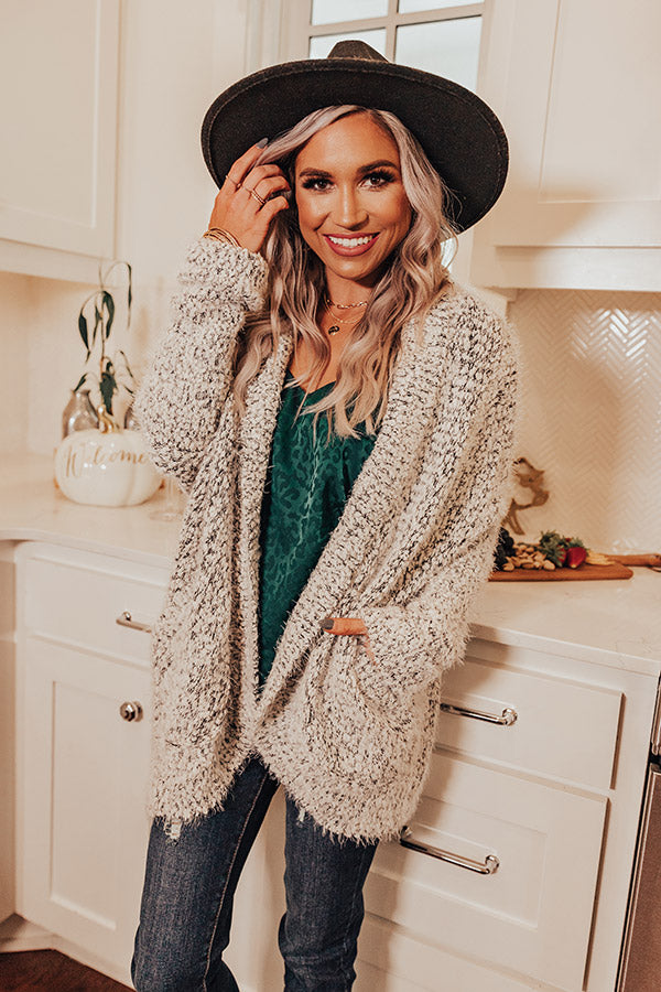 Cozy Mood Popcorn Knit Cardigan