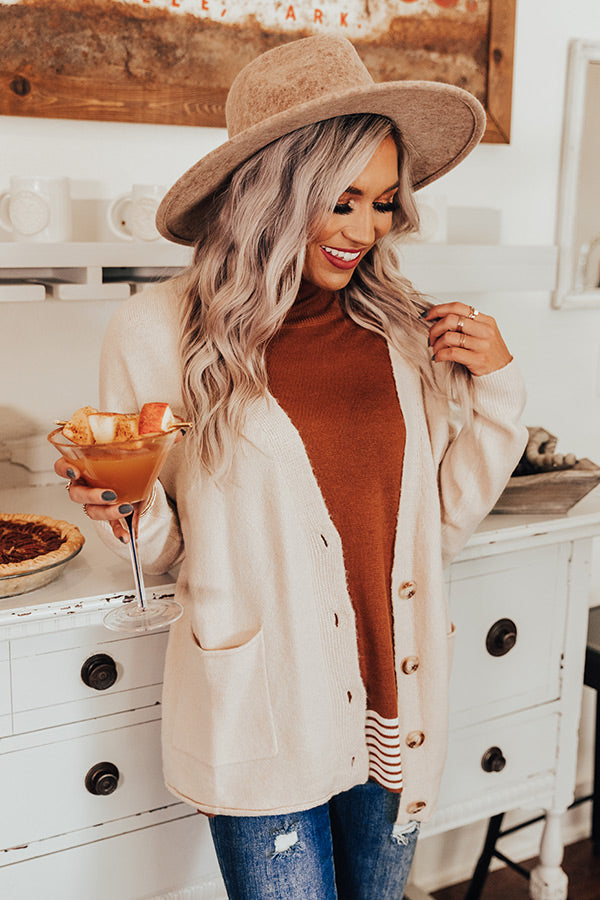 Be There For Me Cardigan In Cream