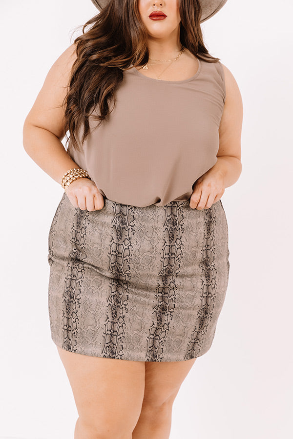 Colorado Concert Snake Print Skirt