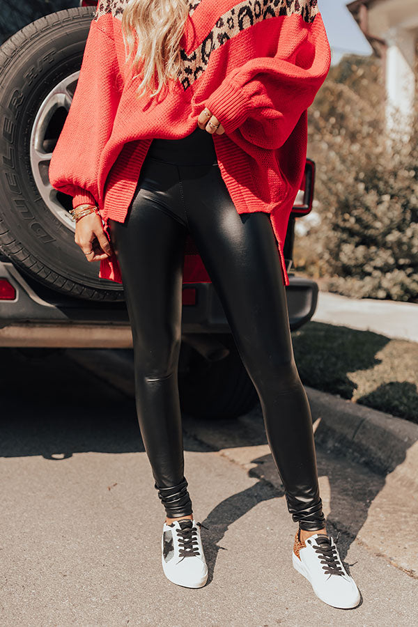 The Milan High Waist Faux Leather Legging