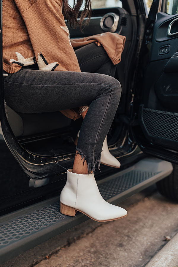 The Olette Bootie in Optic White