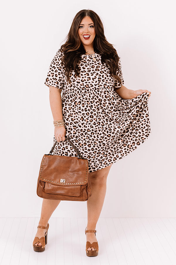 Twirls In Telluride Leopard Babydoll Dress