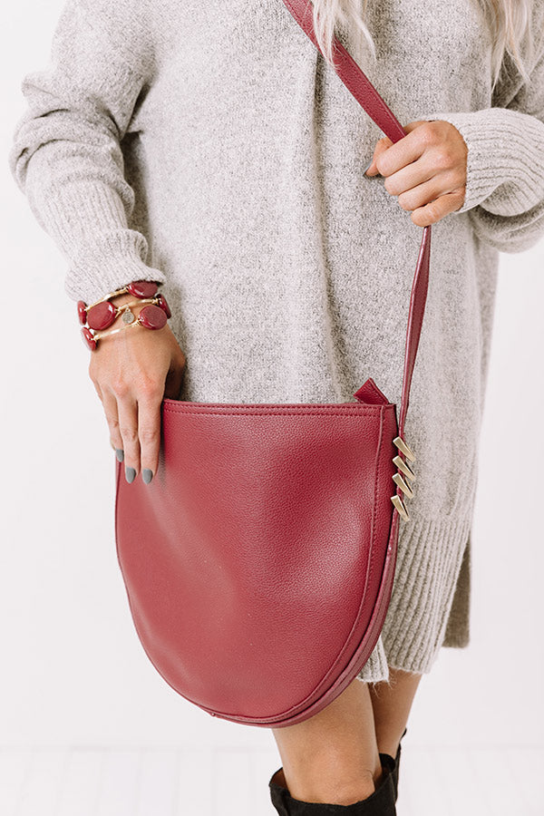 Cider Chic Faux Leather Crossbody In Wine