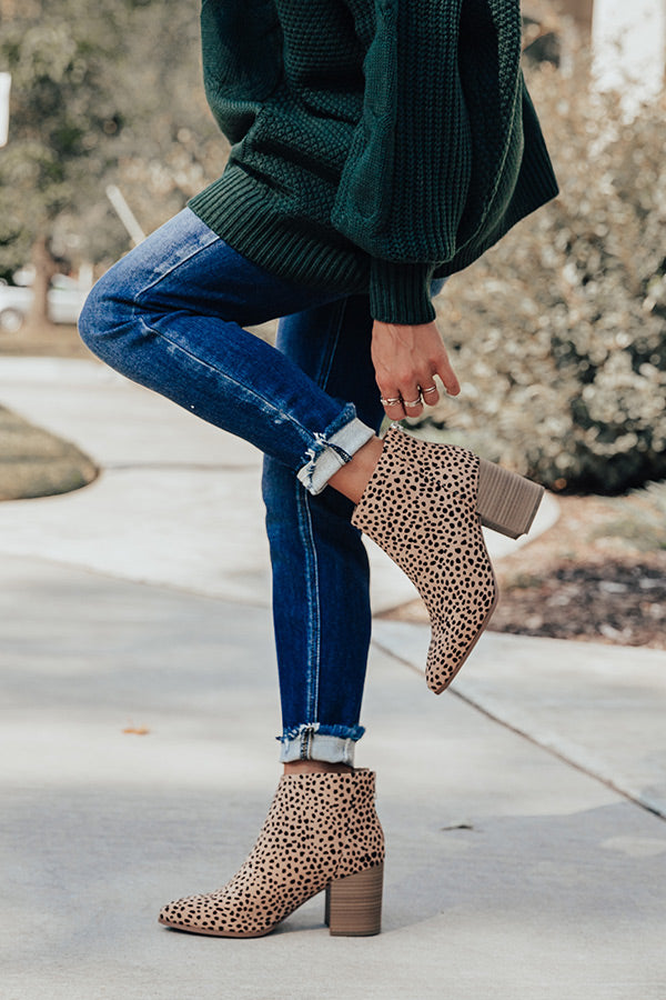 The Estelle Cheetah Print Bootie