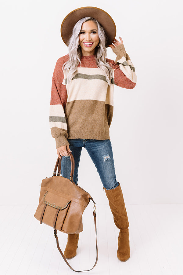 Making Mocha Moves Stripe Sweater