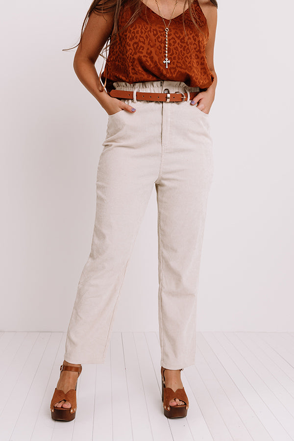 The Juni High Waist Pant In Ivory