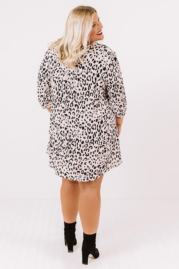 Brilliant Babe Embroidered Leopard Shift Dress